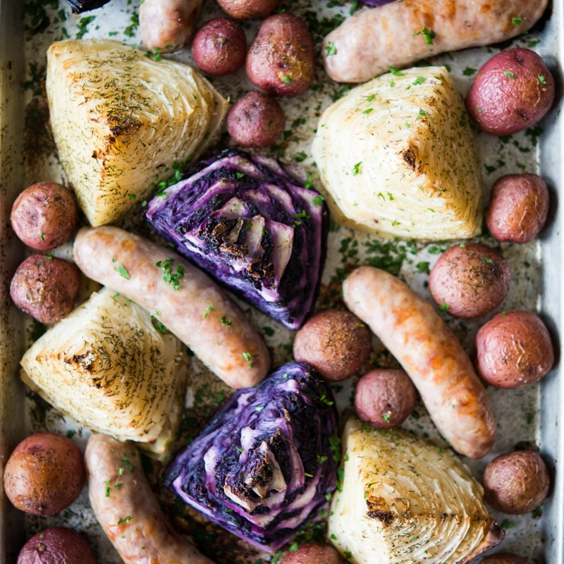 Sausage & Cabbage Sheet Pan Dinner