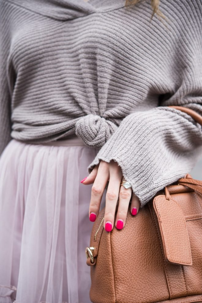 Tulle Skirt with Sweater Fed and Fit-5