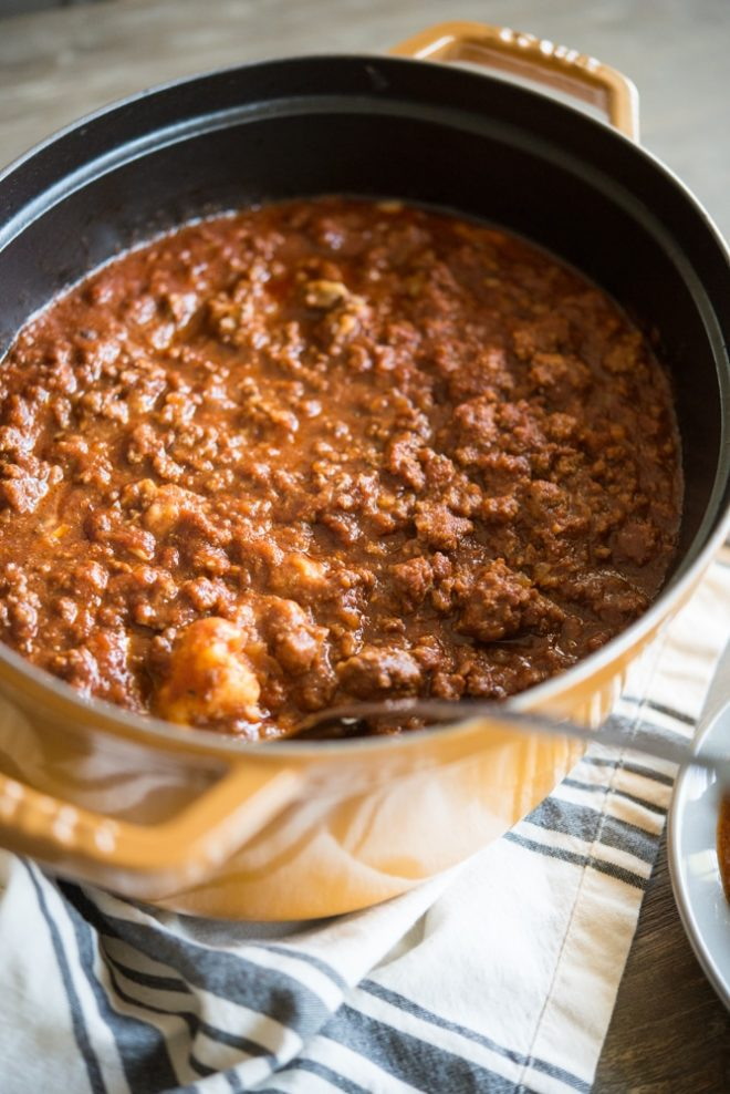 Beef Chili Casserole Bake Fed and Fit-4