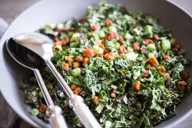 Curried Kale Salad Fed and Fit-3