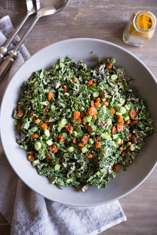 Curried Kale Salad Fed and Fit