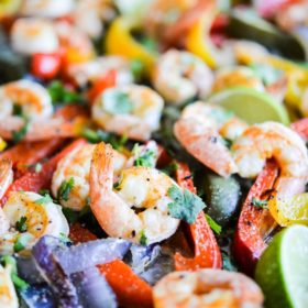Shrimp Fajita Sheet Pan Dinner