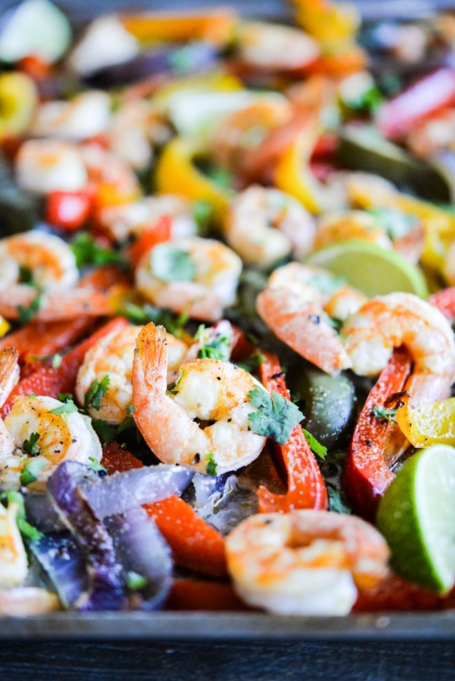 Shrimp Fajita Sheet Pan Dinner Fed and Fit-4