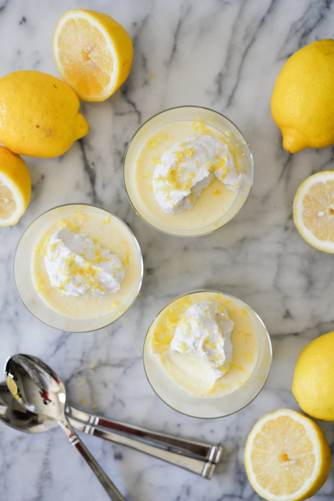 lemon curd puddings