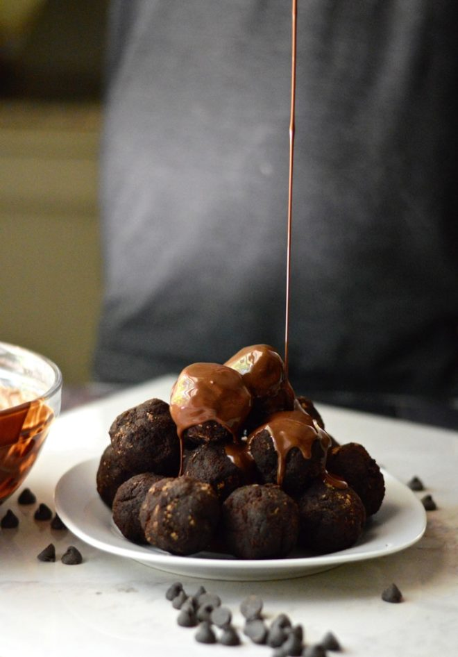 Paleo Triple Chocolate Cake Balls Fed and Fit