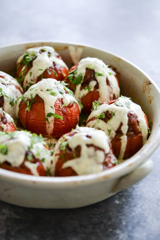 Paleo BBQ Ranch Meatloaf Stuffed Tomatoes | Fed & Fit