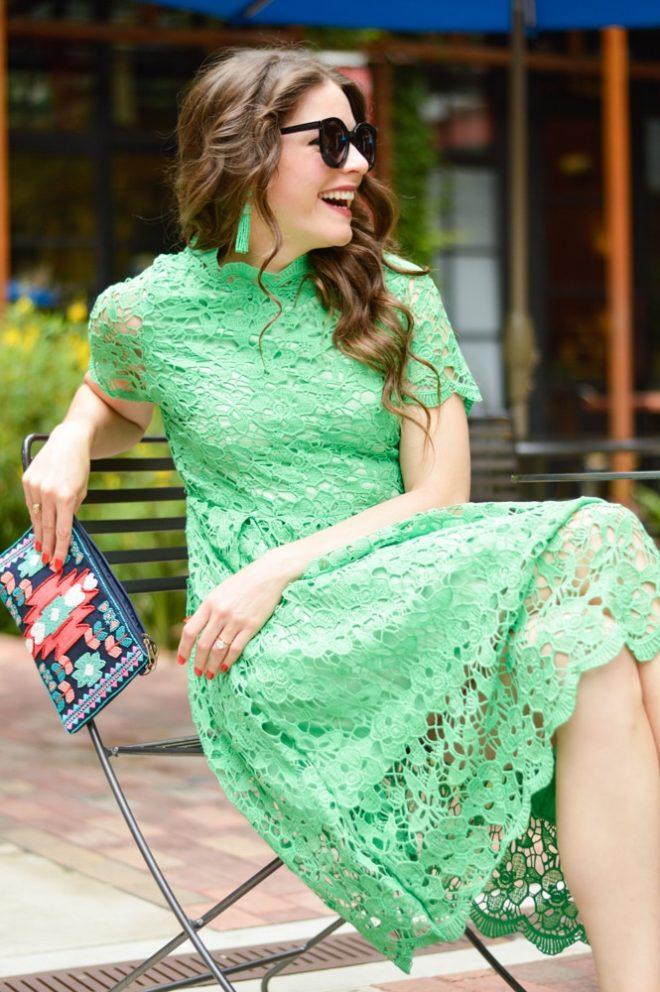 Summer Crochet Midi Dress