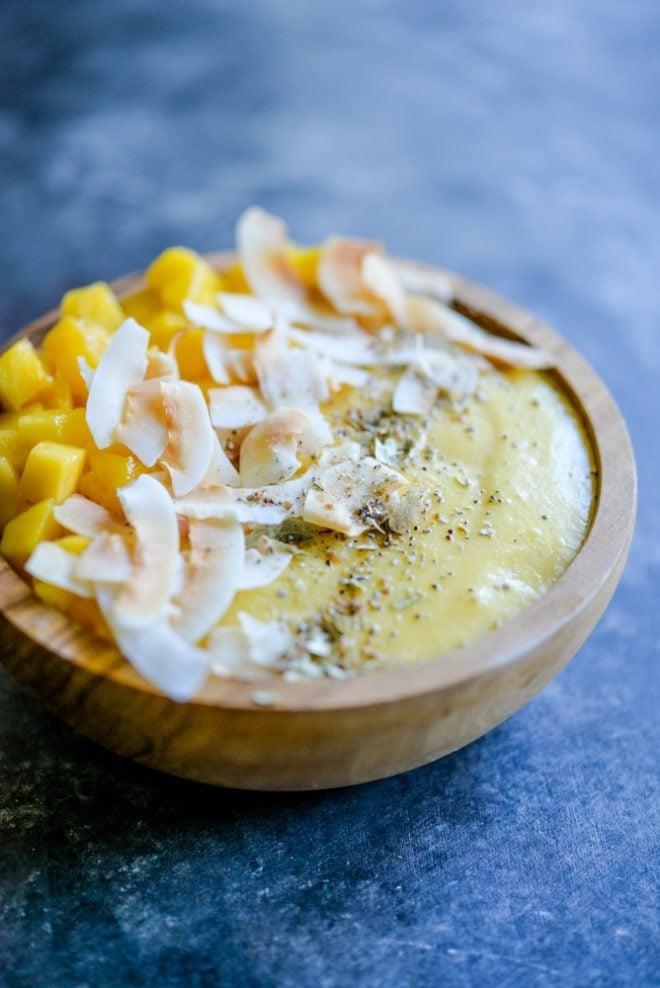 Paleo Mango Lassi Smoothie Bowls | Fed & Fit