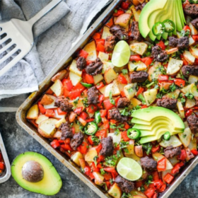Chorizo Sheet Pan Breakfast
