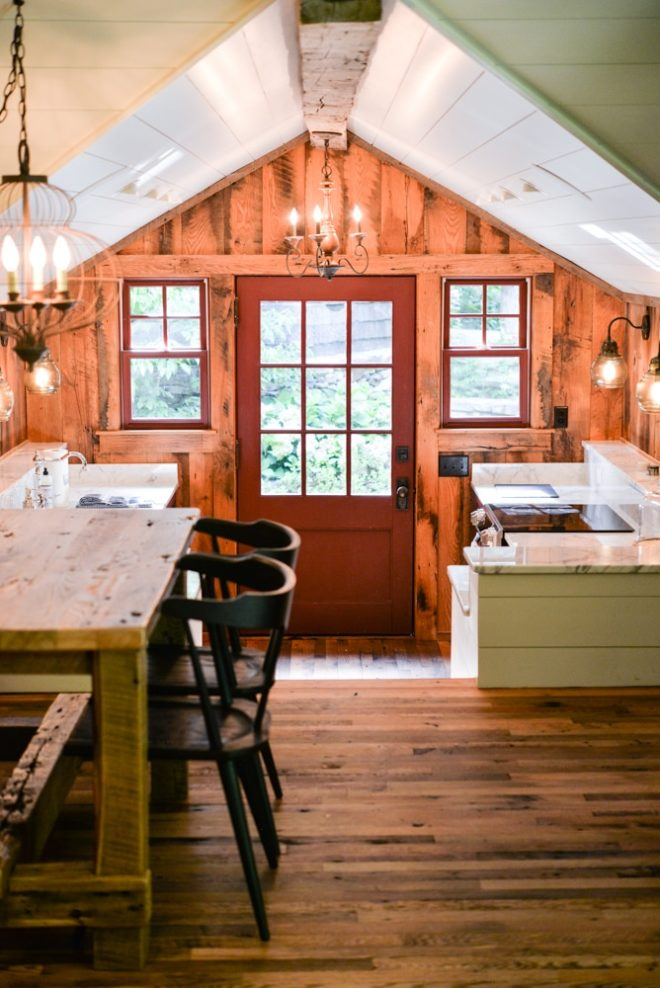 a rustic kitchen