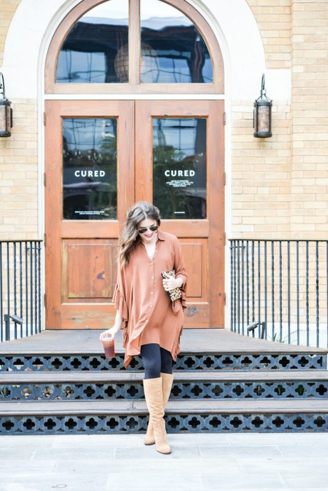 tunic and boot fashion