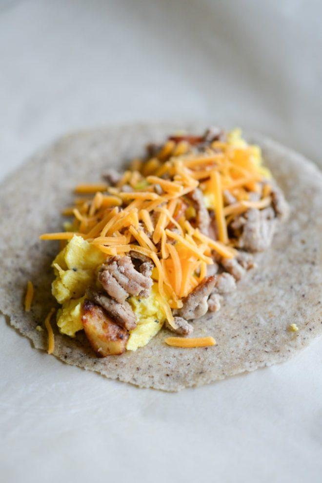 homemade freezer breakfast burritos