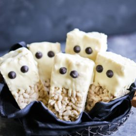 Rice Crispy Ghost Bars (GF) [VIDEO]