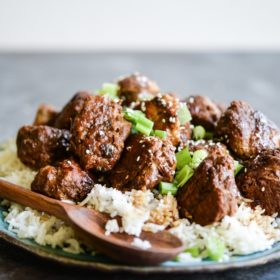 Slow Cooker Turkey Teriyaki Meatballs