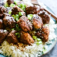 These Turkey Teriyaki Meatballs are gluten free and Paleo, come together quickly