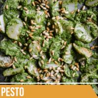 Roasted Turnips with Turnip Greens Pesto