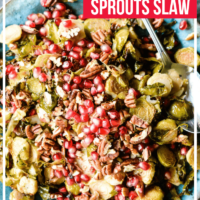 Pomegranate Brussels Sprouts Slaw