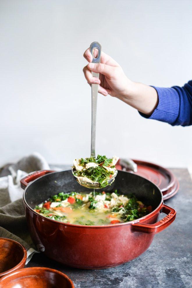 Squeaky Clean Chicken & Veggie Soup