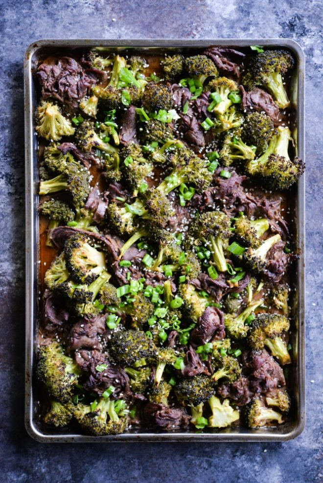 Teriyaki Beef Sheet Pan Dinner
