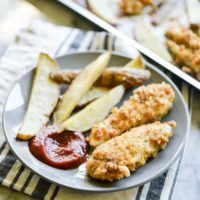 Sheet Pan Chicken Fingers & Fries