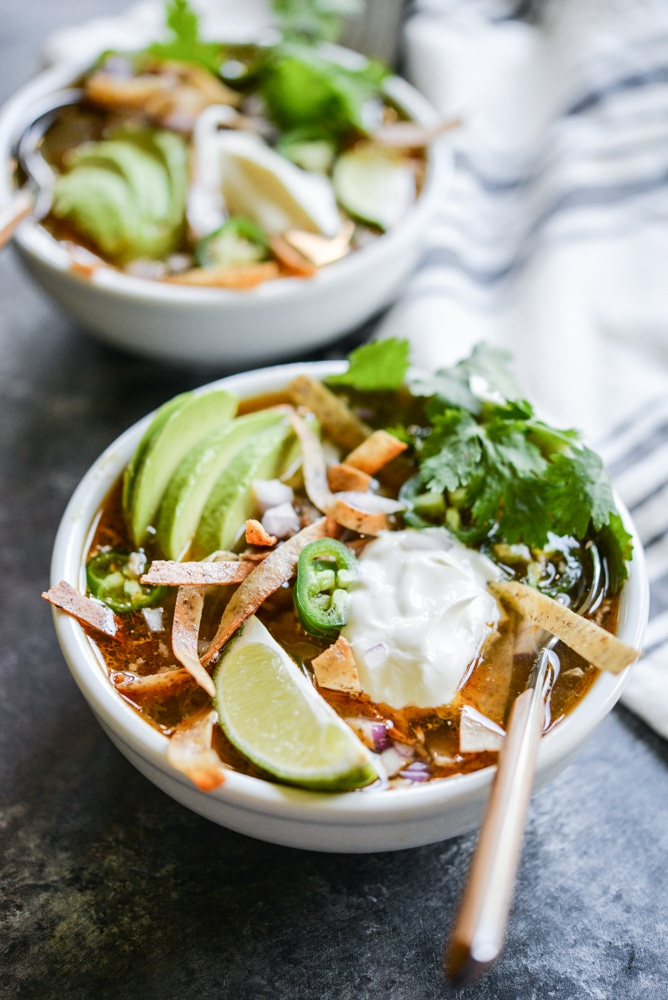 healthy soup roundup Slow cooker tortilla soup