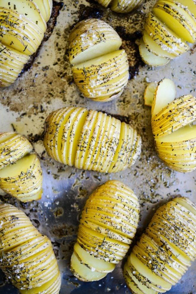 Rosemary Sea Salt Hassleback Potatoes