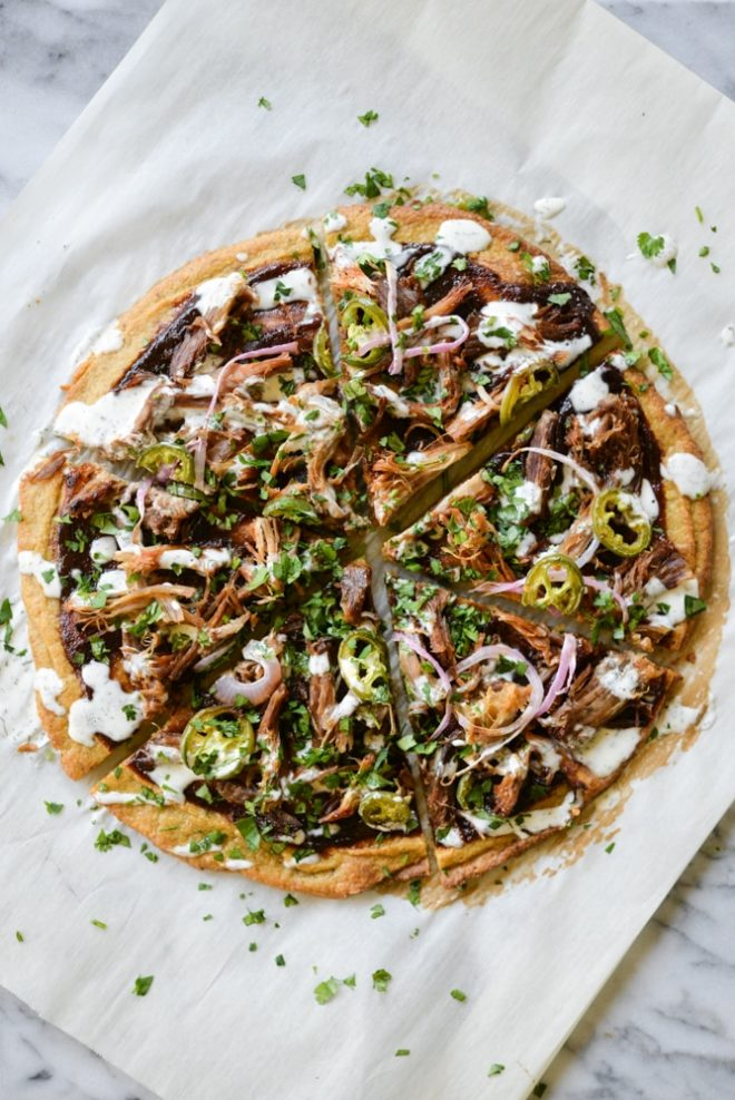 BBQ Pork Plantain Pizza