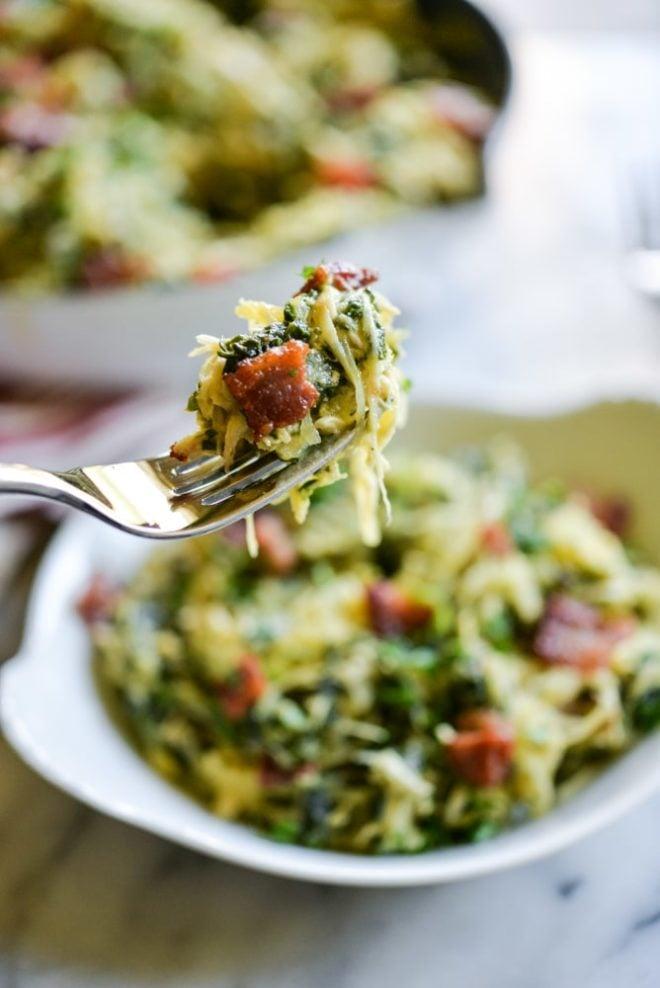 Chicken Carbonara Spaghetti Squash Casserole