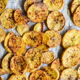 Chili-Lime Oven Baked Plantain Chips