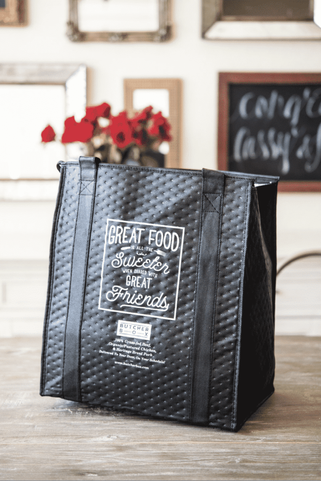 a freezer bag from Butcherbox