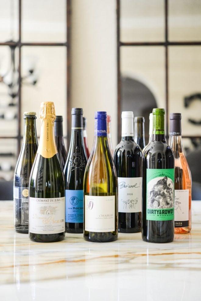assorted natural wine bottles