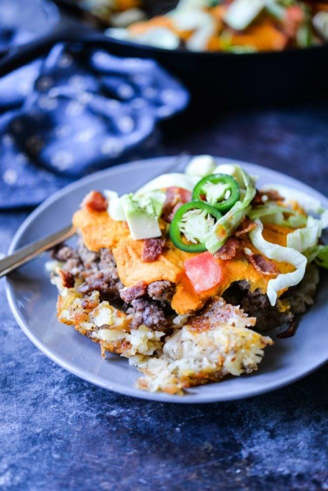 Paleo Cheeseburger Casserole