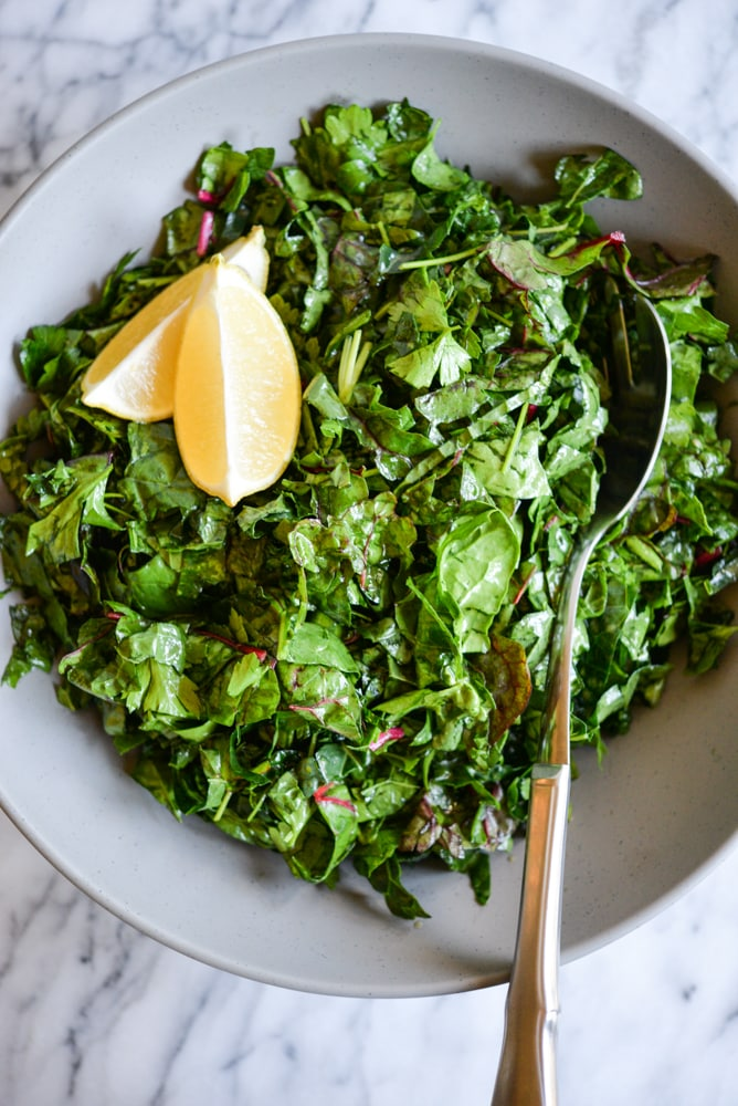 3 Greens Refrigerator Salad