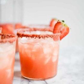 Sparkling Rosé Margaritas