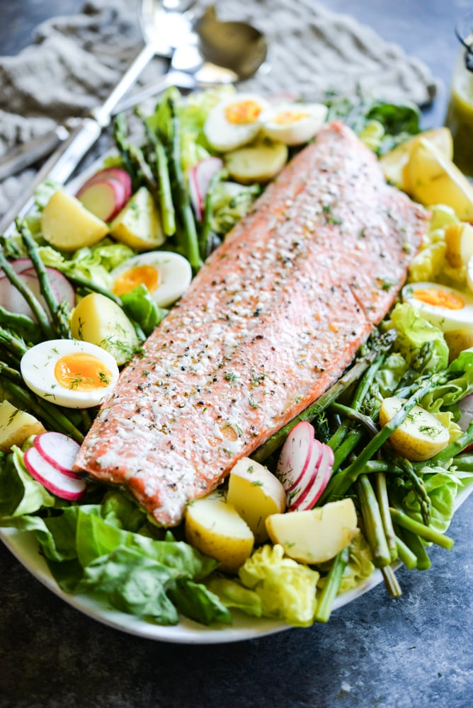 Big Batch Salmon Nicoise Salad