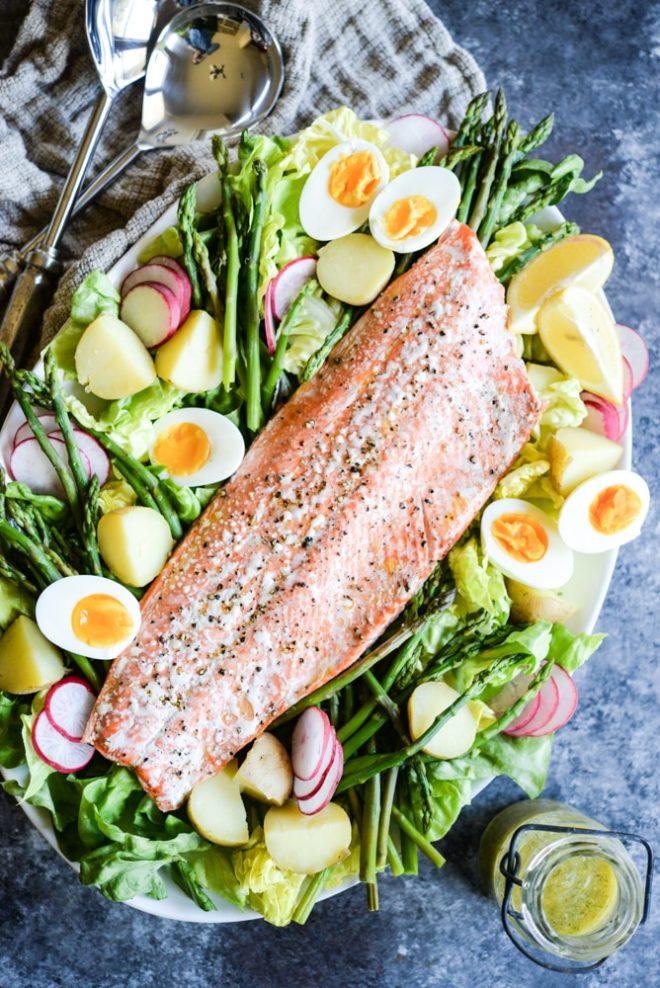 Big Batch Salmon Nicoise Salad