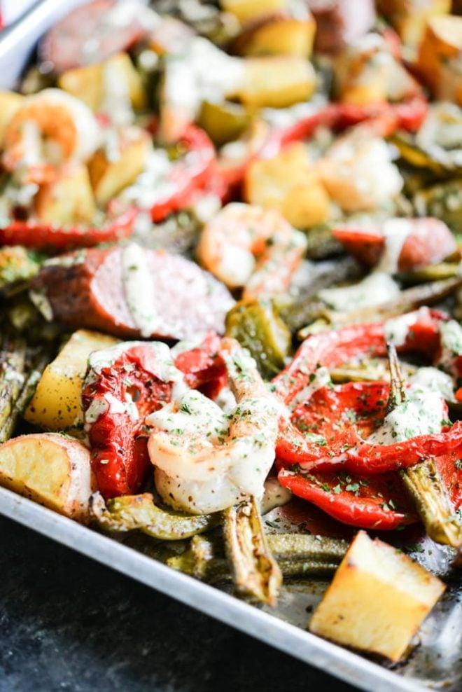 Cajun Shrimp Sheet Pan Dinner