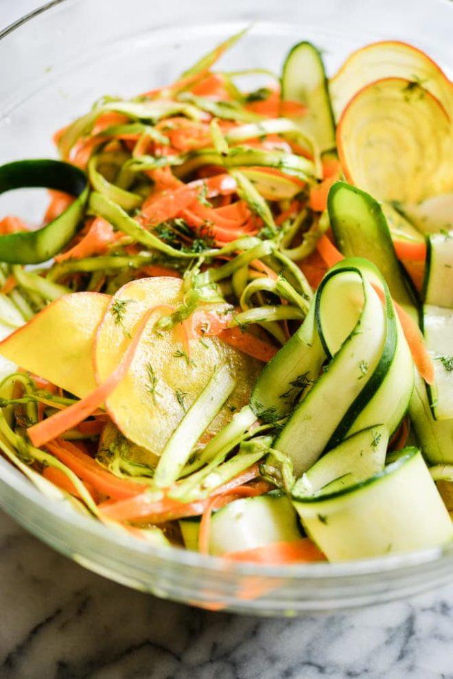 Spring Shaved Veggie Salad