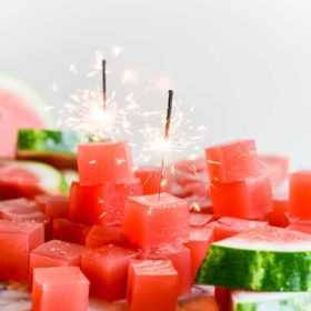 Sparkling Watermelon Jello Shots