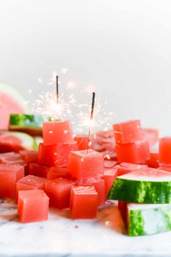 Sparkling Watermelon Jello Shots