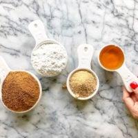 Powdered sugar, coconut sugar, maple sugar, honey