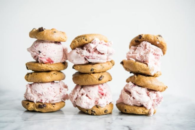 Gluten Free Strawberry Ice Cream Sandwiches