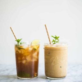 Easy Mint Simple Syrup + Two Tasty Drinks