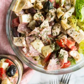 Mason Jar Antipasto Salad