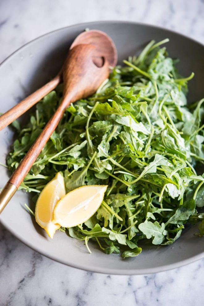 lemon sea salt arugula salad