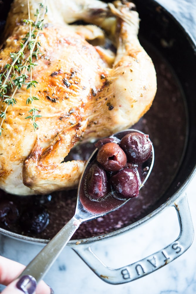Cherry Balsamic Roasted Chicken