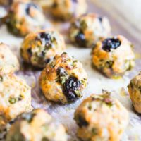 Blueberry sweet potato breakfast sausage meatballs