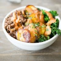 Paleo Bison Plantain Breakfast Bowl