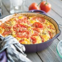 Sausage & Tomato Frittata