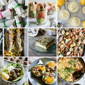 healthy meal prep roundup image grid